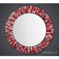 Roulette PIAGGI red glass mosaic round mirror by Piaggi