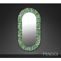 Stadium PIAGGI green glass mosaic mirror by Piaggi