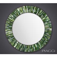 Roulette green PIAGGI glass mosaic mirror