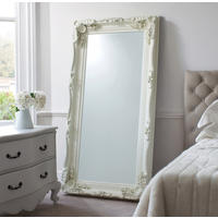 Georgette French Cream Carved Leaner Mirror