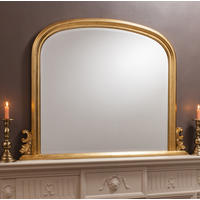 Arched Gold Overmantle Mirror