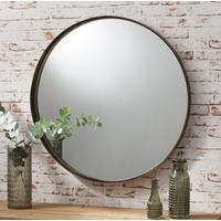 Industrial Round Mirror