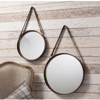 Set Of 2 Strap Mirrors