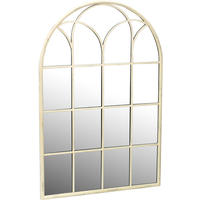 Cream Arched Church Window Mirror