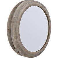 Marseille Industrial Antique Grey Porthole Mirror