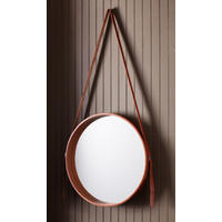 Leather Saddle Hanging Mirror