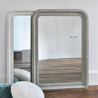Beaded Wall Mirror - Grey and White