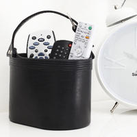 Faux Leather Remote Control Holder/ Desk Tidy