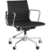 Eames Style Low Back Ribbed Office Chair