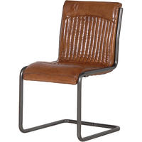 Luther Brown Leather Office Chair