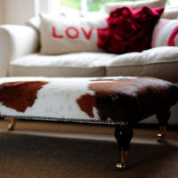 'You Choose the Cowhide' Footstool