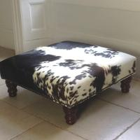 2ft x 2ft Cowhide Footstool - FS06