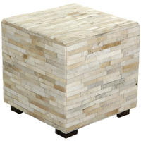 Flamant Home Interiors - Azzo White Footstool