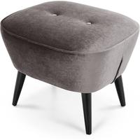 Lotus Footstool, Silver Grey