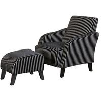 Pinstripe Chair and Footstool