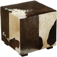 Flamant Home Interiors - Azzo Brown/White Footstool