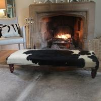 1.5ft x 4ft Cowhide Footstool -  BLFS02