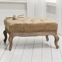 Tiffany Gold Velvet Buttoned Footstool