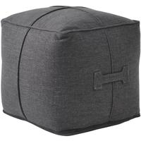 Cobain Small Square Charcoal Pouffe