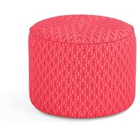 Lulu Small Pouffe, Raspberry and Coral