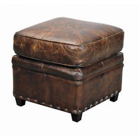 Vintage Leather Footstool