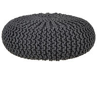 House by John Lewis Knitted Pouffe Steel