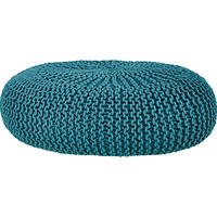House by John Lewis Knitted Pouffe Teal
