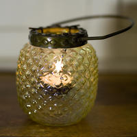 Hobnail Lantern Yellow