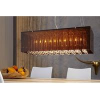 Claire XL- crystal pendant light with bronze lamp shade