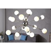 Galaxy - 18 white glass balls sputnik-style ceiling light