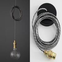 Nostalgia Lights Industrial style Bayonet Pendant Set - S Ring - Brass