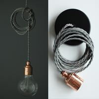 Nostalgia Lights Plain Skirt Edison Pendant Set - Copper