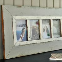 Grey Wooden Multi Photo Frame