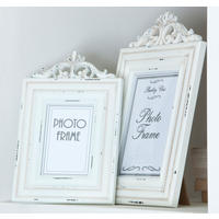 White Wooden Antique Style Photo Frame Large