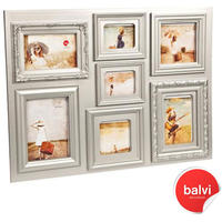 Baroque Multiple Photo Frame - Silver