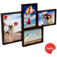 Grid 4 Multi Photo Frame - Wenge