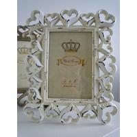 Shabby Chic Cream Photo Frame