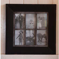 Vintage Six Photo Frame Black