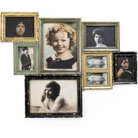 Antique Finish Combination Frame for Eight Pictures
