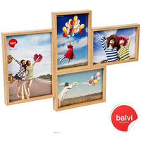 Grid 4 Multi Photo Frame - Teak