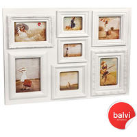 Baroque Multiple Photo Frame - White