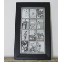 Vintage Twelve Photo Frame - Black