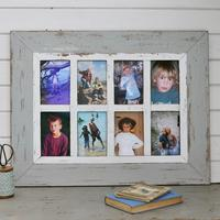 Grey Wooden 8 Aperture Photo Frame