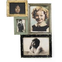 Antique Finish Combination Frame for Four Pictures
