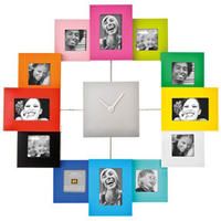 Family Time Photo Frame Clock (Multi Coloured)