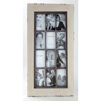 Vintage Twelve Photo Frame - Antique White