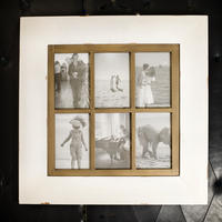 Vintage Six Photo Frame - Antique White