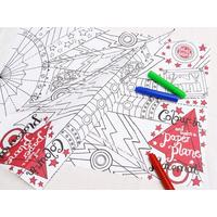 Colour In Plane Placemat from Folly