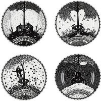 "Rob Ryan - """"This Was Our Place"""" Set of 4 Plates"