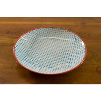Carla Dinner Plate in Blue/Red